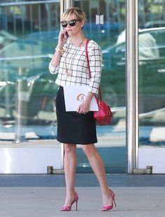 'Wild' actress Reese Witherspoon is spotted out handling her business in Los Angeles, Calfornia on August 5, 2014.