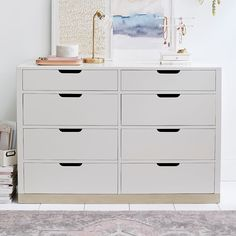May 2020 - Rhys Loft Dresser, Weathered White/Simply White - Furniture - Dressers + Armoires Teen Dresser, Wide Dresser, Dresser Sets, Bedroom Dressers, Bedroom Furniture, Kitchen Furniture, Teen Desk, Bedroom Decor, Bedroom Ideas