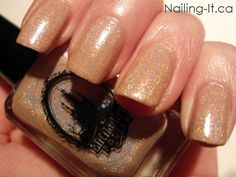 Enchanted Polish - Afternoon Delight Swatch (Nude Holographic Nail Polish)