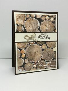 Masculine Birthday card made super easy! #stampinBJ.com