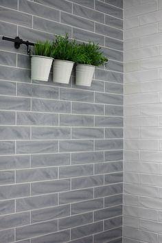 New Yorker Smoke 3 X 12 Hand Made Look Glazed Ceramic Tile