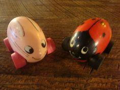 Tonka ladybug.  I don't know if I had the pink bunny or not.