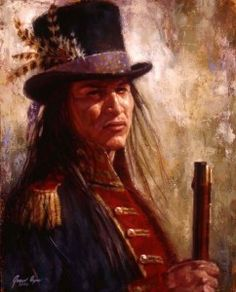 """Civilized Warrior"", A Lakota warrior wears American garments, traded by the Lewis and Clark Expedition. (By James Ayers)"