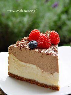 Sernik z musem czekoladowym Cheesecake, Sweets, Cook, Desserts, Recipes, Gastronomia, Deserts, Bakken, Tailgate Desserts