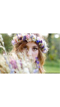 Silk flower garland