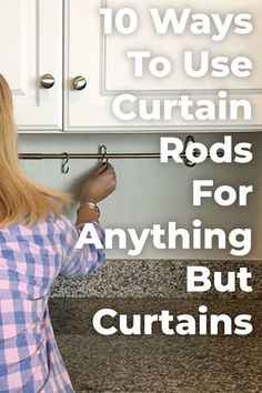 Curtain rods are a great way to decorate without the hastle! #diy #diyhomedecor #inspirational #organization