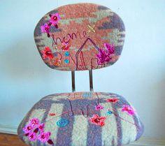 DIY - overtrek met borduursel voor bureaustoel