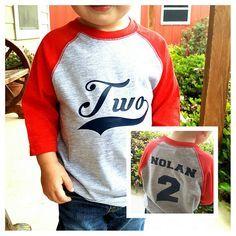 Baseball Birthday Shirt 2nd Boys Themes For