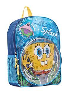 c468eaedb22 Sponge Bob SpongeBob Backpack Make a Splash School Bag Tote 16