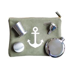 $76 – All you need to survive the summer - The Izola Thirst Aid kit comes complete with the Maritime Zip Pouch, Salut! Travel Cup, Blank 5 oz. Flask, and our Flask Fu