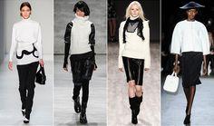 NYFW AW14 Trend đen và trắng