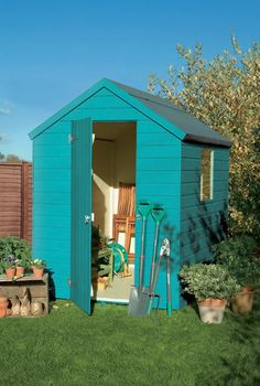 Image result for shed garden 6x4 beach blue forget me not