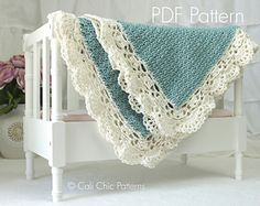 """""""PDF PATTERN"""" of how to make the Claire Baby Blanket."""