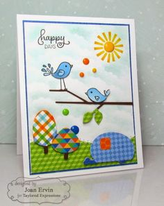 Happy Days Card by Joan Ervin #Cardmaking, #SummerFun, #JustBecause