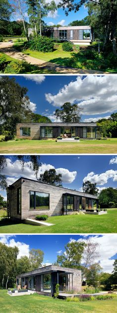 Designed by PAD Studio, the clients wanted to create a new, very low energy dwelling, flooded with light and with a strong connection to the surrounding landscape, but the most important thing is that is shouldn't resemble or feel like a mobile home.