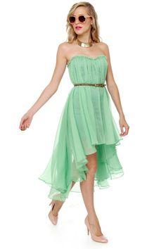 Blaque Label Aeriform Strapless Mint Green Dress at LuLus.com!