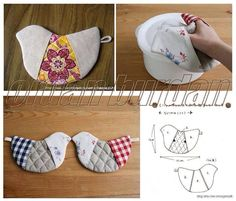 Agarradera pajarito Wonderful DIY Cute Bird Potholder With Template | WonderfulDIY.com