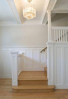 Feldman Architecture Traditional Staircase San Francisco Feldman Architecture Inc A Saltbox Design  C B Wall Paneling Ideas
