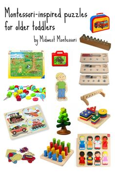 Puzzles for older Montessori toddlers