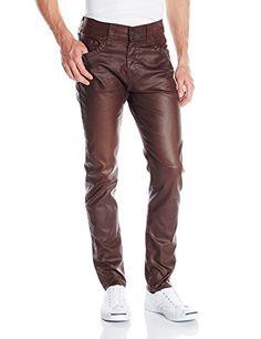 True Religion Men's Dean Tapered Leatherlike Pant In Brown, Brown, 32 True Religion http://www.amazon.com/dp/B00NJP1ADY/ref=cm_sw_r_pi_dp_XvZowb144D605