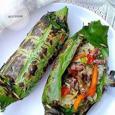 Squid Recipes, Rice Recipes, Asian Recipes, Cooking Recipes, Healthy Recipes, Ethnic Recipes, Nasi Liwet, Nasi Bakar, Lunch Box Recipes