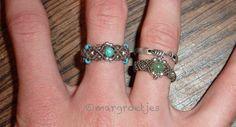 """Rings!! Managed to make those small rings. Even the silver one with only one cord in the middle and some smaller """"rings"""".. Every ring with sterling silver"""