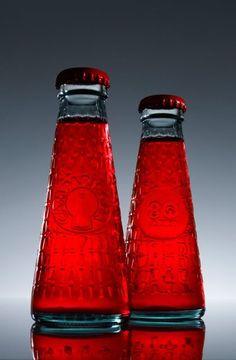 Campari soda in een klein flesje.