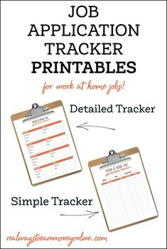 Work at home job application tracker PDF Printable! Keep track of the work at home jobs you apply with easily. Work From Home Companies, Work From Home Jobs, Make Money From Home, How To Make Money, Job Work, Find Work, Extra Money, Making Ideas, Printables