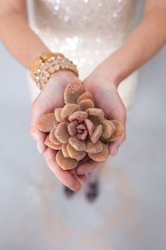 glitter succulent    photography by Studio 28 Photo    design & styling by The Stylish Soiree
