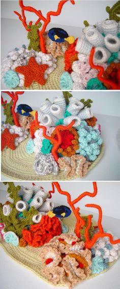 crochet coral reef 4 by meekssandygirl.deviantart.com on @deviantART