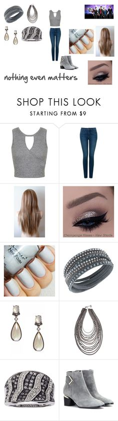 """""""Nothing Even Matters by Big Time Rush"""" by themortalinstrumentslover ❤ liked on Polyvore featuring Miss Selfridge, NYDJ, Swarovski, Anne Klein, Erica Lyons and Nicholas Kirkwood"""