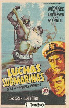 Programa de Cine - Luchas Submarinas John Tucker, Classic Movie Posters, Film Posters, Pacific Movie, Film World, Foreign Movies, War Film, Adventure Film, I Movie