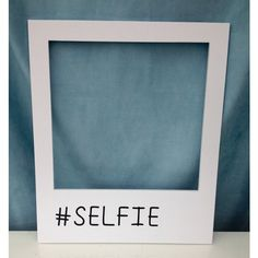 Medium #SELFIE polaroid prop frame! Personalise with any hash tag,... ($23) ❤ liked on Polyvore