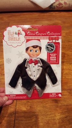 NEW Sealed Elf on the Shelf Claus Couture Collection Clothes Dapper Tuxedo 2015
