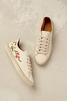 Slide View: 5: Isola Floral Espadrille Trainers