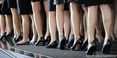 Flight Attendants, black shoes!