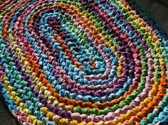 Lovely ... Crocheted Rag Rug Kit! Larger Image