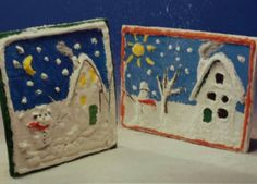 3d knutsel: winterdorpje van papier machee