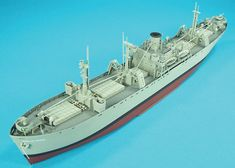 """Trumpeter 1/350 scale """"Liberty Ship"""" - Liberty Ships transported millions of tons of war supplies to American troops and allied forces throughout World War II. These ships were designed for mass production - the Jeremiah O'Brien was built in less than 60 days. The O'Brien was at Normandy on D-day and it is one of two surviving """"Liberty Ships."""""""