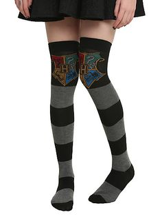 Harry Potter Hogwarts Rugby Over The Knee SocksHarry Potter Hogwarts Rugby Over The Knee Socks,
