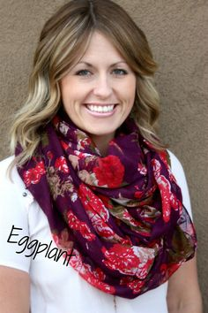 $6.99 | Gorgeous Floral Scarves in 9 Colors | Shop for boutique deals on Jane.com
