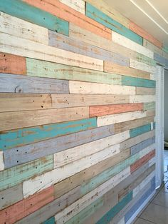 Vinyl plank flooring, plank walls, pallet walls, wooden walls, wash r Wall Design, House Design, Plank Walls, Plank Flooring, Old Fences, Ship Lap Walls, Wood Pallets, Barn Wood, Home Projects