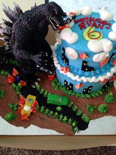 #GODZILLA CAKE :)