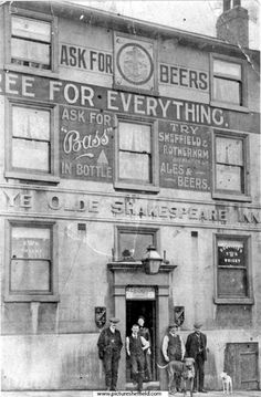 My Grans favouite pub Ye Old Shakespeare Inn Heeley Sheffield Sheffield Pubs, Sheffield England, British Pub, British History, Pub Signs, South Yorkshire, London Photography, Old London, Old Photos