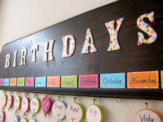 Birthday Reminder Board