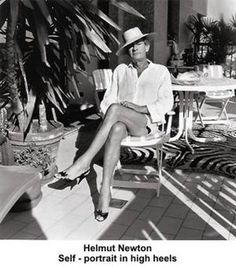 One of my favorite photographers – Helmut Newton Self-portrait in high heels by artimageslibrary, via Flickr