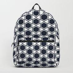 Black and white polygon hexagon pattern available in backpacks, bag in Hexagon Pattern, Art Bag, Fashion Backpack, Cool Art, Backpacks, Black And White, Stuff To Buy, Bags, Beautiful