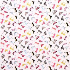 8f434e63db white underwear bra fabric Timeless Treasures Dress Up Diva 2 White  Underwear