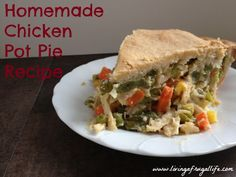 Super easy from scratch chicken pot pie recipe!  I will never buy chicken pot pie again!