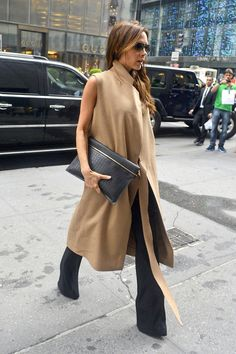 Victoria Beckham. Street Style. Photo: Pacific Coast News